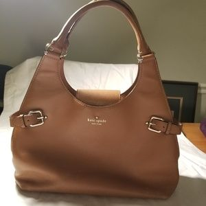 Kate spade tan leather hobo bag